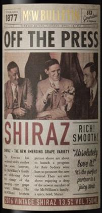 OFF THE PRESS SHIRAZ ラベル