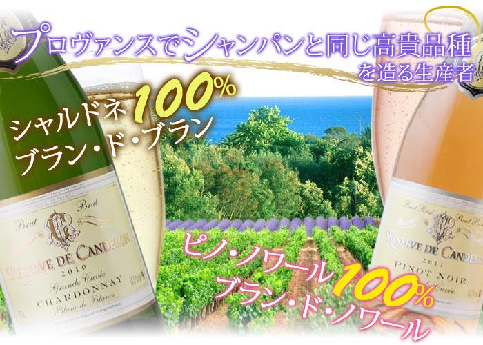 シャンパンんと同じ高貴品種を造る生産者