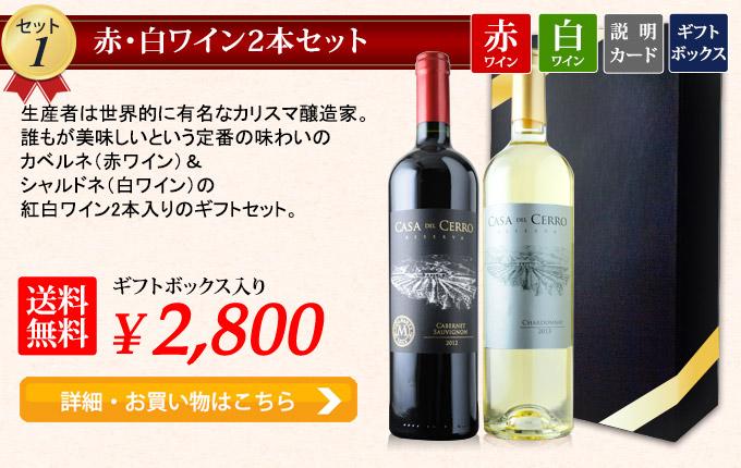 赤・白ワイン2本セット
