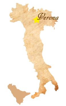イタリア ヴェローナ地図
