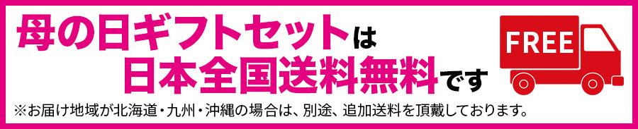 母の日ワインギフトセットは日本全国送料無料です