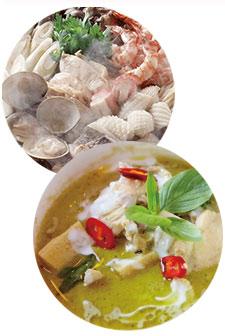冬場の鍋やタイ料理などのアジアンフード